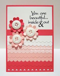 Holly created this beautiful Pink Scalloped card for Breast Cancer Awareness month.   Holly shares how she created it here:  http://classycardsnsuch.blogspot.com/2013/10/pink-scallops.html
