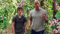 Josh Hutcherson (Sean Anderson) and Dwayne Johnson (Hank Parsons) in Journey 2 - The Mysterious Island The Mysterious Island, Journey 2, Jules Verne, Josh Hutcherson, Dwayne Johnson, Hunger Games, Mystery, Celebrity, Earth