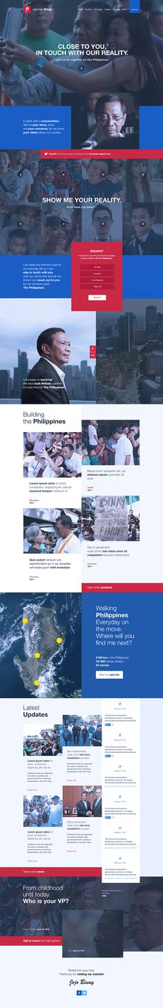 Website design for Jejomar Binay on Behance