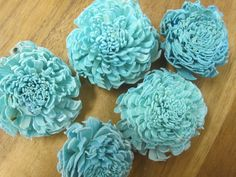 Sola Chorki Flowers   SET of 6  Light blue by SuperiorCraftSupply