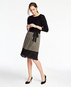 ec5d1709a84 Shop Ann Taylor for effortless style and everyday elegance. Our Plaid Tie  Waist Pleated Skirt is the perfect piece to add to your closet.