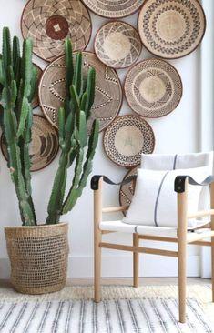 boho home accessories Tonga Wicker Wall baskets Binga African Tribal Baskets Baskets On Wall, Wicker Baskets, Picnic Baskets, Decorative Wall Baskets, Home Decor Baskets, Decorative Accents, Decorative Items, Home And Deco, Bohemian Decor