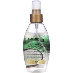 Pictured here: OGX Nourishing Coconut Oil Weightless Hydrating Oil Body Mist  ($6)