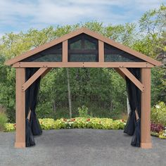 Look at our website page for a little more involving this striking small gazebo Backyard Pavilion, Outdoor Pavilion, Backyard Gazebo, Small Backyard Landscaping, Landscaping Tips, Backyard Ideas, Patio Ideas, Small Gazebo, Diy Gazebo