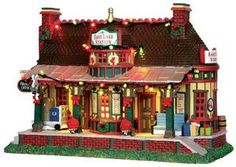Lemax East Lake Station #35495 - Miniature Christmas Village Train Station - Lights and Sounds - Caddington Collection