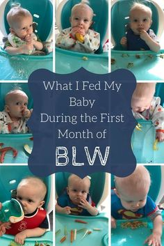 Baby Led Weaning or BLW is a little intimidating at first. This is what I fed my six month old during his first month of BLW