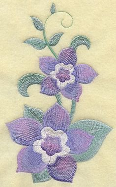 Texas Bluebells Embroidered Terry Kitchen by forgetmeknottreasure.etsy.com