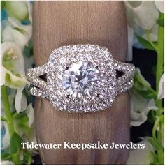 Double halo engagement ring. #engagementring #doublehaloengagementring