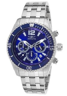 Invicta Men's Specialty Sport Watch 19762 Blue Dial 45mm Stainless Steel | eBay