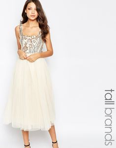 Image 1 ofLittle Mistress Tall Sequin Bodice Tulle Prom Dress