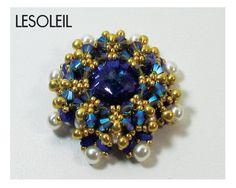 LESOLEIL Swarovski Rivoli Pendant Beadwork DIY Beading by bead4me, $29.00