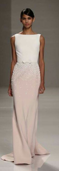 Simple lines simple cut accent the beading of the skirt