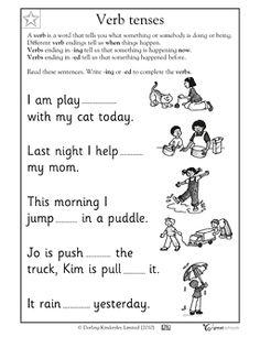 Verb tenses - Worksheets & Activities | GreatSchools
