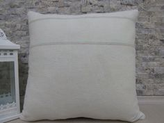 Pure Wool Natural Color Vintage Kilim Pillow 18 x 18 Turkey Pillow Modern Decorative Sofa Pillow Navajo Pillow Multi purpose Asian Pillow