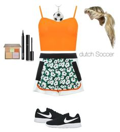 """socer in Dutch theme"" by juliaelodie ❤ liked on Polyvore featuring STELLA McCARTNEY, WearAll, DB Designs, NIKE, Stila, NARS Cosmetics and Chanel"