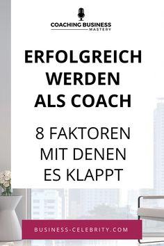 Was unterscheidet die Coaches mit einem profitablen Coaching-Business von denen, die immer wieder kämpfen, um genügend Kunden zu finden? Ich hab über 400 Coaches dabei geholfen, mehr Bekanntheit und mehr Kunden zu gewinnen und daher einige Gemeinsamkeiten entdeckt. Auch, wenn der Business-Aufbau dabei natürlich nicht über Nacht erfolgt. Erfolgreich sind diejenigen, die diese 8 Erfolgsfaktoren profitabler Coaches berücksichtigen: hör rein. #erfolgreichwerden #coachsein #coachingbusiness Online Coaching, Personal Branding, Online Business, Train, Celebrities, Yoga Lifestyle, Blog, Coaches, Mindset