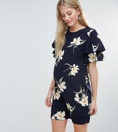 798aa03a5f3 Queen Bee Floral Printed Shift Dress - Navy Maternity Gowns