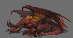 Dragon & Swat by jong Hyun Lee on ArtStation. Fantasy Monster, Monster Art, Creature Concept Art, Creature Design, Fantasy Creatures, Mythical Creatures, Fantasy Character Design, Character Art, Cool Monsters