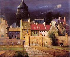 Water Tower In Bremen by Franz Radziwill