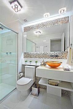 Best bathroom design apartment home decor 46 ideas Bathroom Design Luxury, Bathroom Design Small, Bathroom Layout, Bathroom Cabinets, Serene Bathroom, Cozy Bathroom, Modern Bathroom Tile, Mirror Bathroom, Washroom