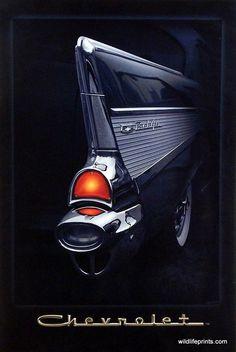 Helen Flint 57 Chevy Fin Poster