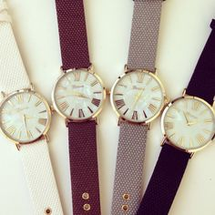 Classic Pearl Dial Watch