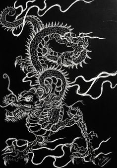 Dragon Wallpaper Iphone, Goth Wallpaper, Trippy Wallpaper, Iphone Background Wallpaper, Cartoon Wallpaper, Chinese Wallpaper, Cute Patterns Wallpaper, Chinese Dragon, Photo Wall Collage