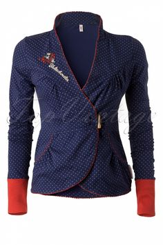 Blutsgeschwister - 50s Blue Panam Cache Cardigan