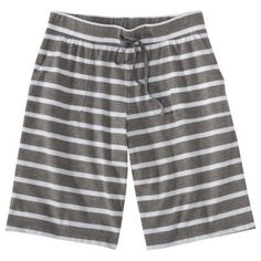 Find sleep bottoms at Target.com! Gilligan & o'malley women's knit bermuda sleep short - heather grey stripe s More Details