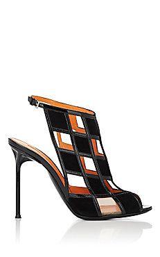 Walter De Silva Cutout Suede & Patent Leather Sandals