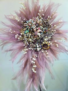 vintage brooch bouquet created by bridal brooch bouquets.co.uk