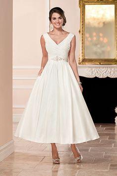 Take the Plunge With These Beautiful V-Neck Dresses. Ankle Length Wedding  DressV Neck Wedding DressWedding GownsBridal ... 20487785db11