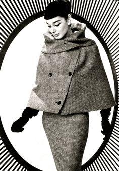 Jacky Mazel wearing Lanvin-Castilo 1956