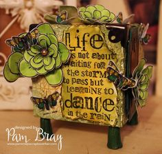 Dance in the Rain Artist Trading Block by Pam Bray