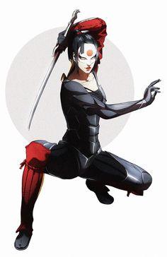 Dc Comics Characters, Dc Comics Art, Tatsu Yamashiro, Comic Character, Character Design, Aesthetic Stickers, Bat Family, Katana, Art Inspo