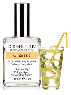 Demeter Gingerale...another shockingly accurate scent by these guys. They even managed to capture the fizzy, bubbly feeling of ginger ale.