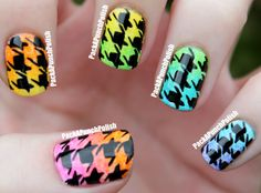 PackAPunchPolish: Gradient Houndstooth Nails