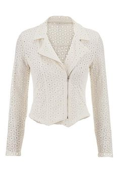textured eyelet moto jacket (original price, $49) available at #Maurices