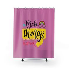 Inspirational Shower Curtains- Magenta Pink. by MbiziHome on Etsy Pet Urine, Shower Curtains, Magenta, Inspirational, Bathroom, How To Make, Pink, Etsy, Decor