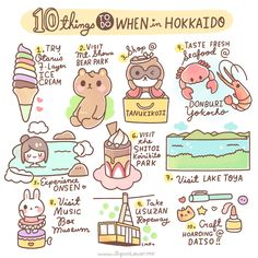 Our destination for today is... Hokkaido! Japan Lover (letterer/blogger/creative friend) Abbey Sy (Le Rêveur) - www.artistic-dreams.com writes: Here are 10 things you shouldn't miss when you visit Hokkaido. Art by Little Miss Paintbrush