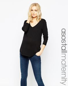 ASOS+Maternity+TALL+Forever+Long+Sleeve+Top