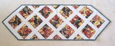Orange Orchids Table Runner Patchwork Quilted by OrchidFabricDecor, $36.00