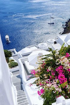 Since I'm in Santorini, I consider the island to be one of the most beautiful places in the world. Vacation Places, Dream Vacations, Vacation Spots, Vacation Rentals, Vacation Villas, Romantic Vacations, Italy Vacation, Romantic Travel, Beautiful Places To Travel