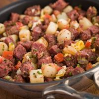 Corned Beef Hash - I add celery and fresh parsely..sweet onion/vidalia olive oil
