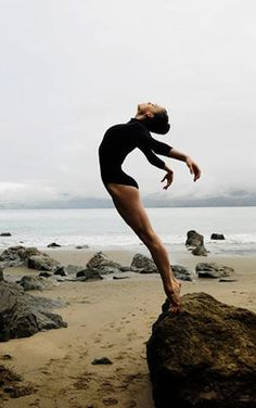 dancer by the sea