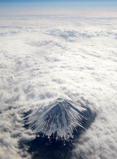 上空からの富士山-01