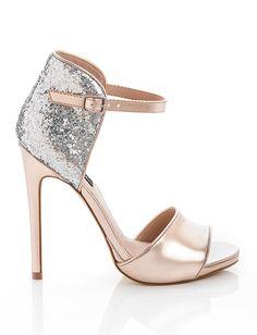 Glitter rose gold heels