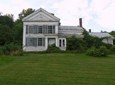 Mystery House on Slate Hill Road (near Sharon Springs) - Greek Revival