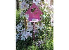 Mangeoire à oiseaux sur pied en métal - Jardin et Saisons
