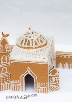 A Gingerbread Masjid for #Ramadan, #Eid or cross cultural #islamic studies | With A Spin  #party #cookie